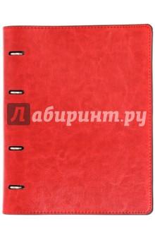 Тетрадь (80 листов, на кольцах, клетка, Красная + Черная) (36092-10) Феникс+