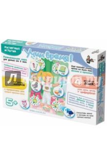 Магнитные истории. Учим время (01657)Игры на магнитах<br>Развивающая игра для детей от 5-ти лет.<br>В комплект входят: <br>1. Магнитная доска<br>2. 3 игровых поля<br>3. 3 магнитные фигурки<br>4. 18 магнитных жетонов<br>5. После с циферблатом и магнитными стрелками<br>Состав: картон, вспененный полимерный материал, магнитный винил, металл.<br>Не рекомендовано детям младше 3-х лет.<br>Сделано в России.<br>