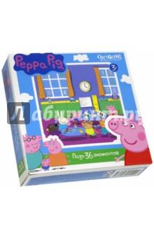 Пазл-36 Peppa Pig (01552)Пазлы (15-50 элементов)<br>Пазл.<br>36 элементов.<br>Размер: 212х212 мм.<br>Изготовлено из картона и бумаги.<br>Не рекомендовано детям младше 3-х лет. Содержит мелкие детали.<br>Сделано в России.<br>