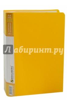 Папка (40 вкладышей, горизонтальные линии, желтая) (221780) Brauberg