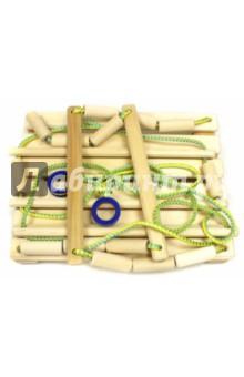 Качели деревянные детские подвесные (кД150д) Бегемот