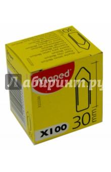 Скрепки 30 мм., металлические. 100 штук в коробке (322220) MAPED
