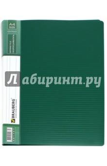 Папка с металлическим скоросшивателем и внутренним карманом, зеленая (221784) Brauberg