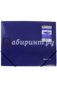 Папка на резинках синяя (221335) Brauberg