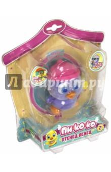 Пи-ко-ко Совенок в шапочке (22020)Другие виды игрушек<br>Пи-ко-ко Птенец-Певец - забавная интерактивная игрушка. <br>При включении птенец-певец идет, весело щебечет и машет крыльями. Если хлопнуть в ладоши - громко запищит и побежит быстро (как будто испугался). Если покормить его из бутылочки - успокоится и радостно зачирикает<br>Размер птенца: 9х6 см. <br>Игрушка изготовлена из пластика, покрытого флоком. <br>В наборе: игрушка интерактивная Птенец-Певец Пи-ко-ко, бутылочка, инструкция.<br>Для работы необходима 1 батарейка типа ААА. (в комплект не входит).<br>Для детей старше 3-х лет. Содержит мелкие детали.<br>Сделано в Китае.<br>