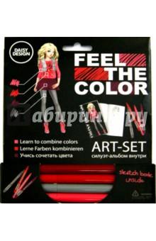 Арт-Сет: фломастеры и силуэт-альбом Pink (60698)Другие виды творчества<br>Daisy Design представляет уникальную линейку Feel the Color. Ты узнаешь как устроены цвета и научишься правильно их правильно сочетать. Feel the Color откроет тебе знания о цветовом круге и правильном сочетании оттенков, поможет почувствовать цвет, научит использовать его, понять его закономерность. Фантазируй, раскрашивай, твори!<br>В наборе силуэт-альбом для набросков и фломастеры актуальных сочетаний.<br>Упаковка: картонный блистер.<br>Сделано в Китае.<br>