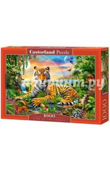 Puzzle-1000 Король джунглей (C-103300)Пазлы (1000 элементов)<br>Пазл-мозаика.<br>1000 элементов.<br>Размер собранной картинки 68 х 47 см.<br>Материал: картон.<br>Упаковка: картонная коробка.<br>Сделано в Польше.<br>