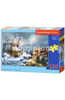 Puzzle-120 Тайны моря (В-13166)Пазлы (100-170 элементов)<br>Пазл-мозаика.<br>120 элементов.<br>Размер собранной картинки 32 х 23 см.<br>Материал: картон.<br>Упаковка: картонная коробка.<br>Для детей от 6 лет.<br>Сделано в Польше.<br>