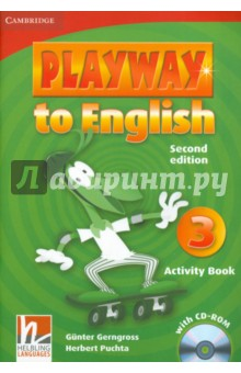 Playway to English 3. Activity Book (+CD)Изучение иностранного языка<br>Playway to English Second edition is a new version of the popular four-level course for teaching English to young children. Pupils acquire English through play, music and Total Physical Response, providing them with a fun and dynamic language learning experience. In the Activity Book children can: Practice all the target language from the Pupils Book. Consolidate learning with an engaging CD-ROM, containing a rich assortment of exciting activities. Choose and personalize a model text, allowing them to practice guided writing.<br>Second edition.<br>