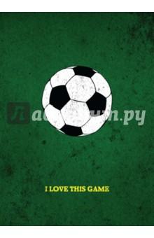 I love this game. ФутболБлокноты тематические<br>Блокнот I LOVE THIS GAME. Футбол - это лаконичные блокноты для записей, которые понравятся настоящим фанатам футбола.<br>Записывайте свои идеи, рисуйте, планируйте и не забывайте про свое хобби!<br>
