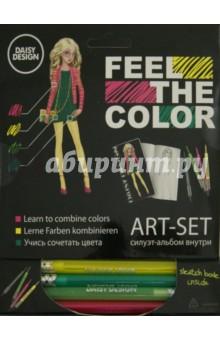 Арт-Сет (фломастер.и силуэт-альбом) Lotus (60701)Другие виды творчества<br>Daisy Design представляет уникальную линейку Feel the Color. Ты узнаешь как устроены цвета и научишься правильно их сочетать. Feel the Colorоткроет тебе знания о цветовом круге и правильном сочетании оттенков, поможет почувствовать цвет, научит использовать его, понять его закономерность. Фантазируй, раскрашивай, твори!<br>Комплектность: 4 восковых карандаша, силуэт-альбом.<br>Изготовлено из бумаги, восковых карандашей.<br>Не рекомендовано детям младше 3-х лет. Содержит мелкие детали.<br>Для детей от 6ти лет.<br>Сделано в Китае.<br>