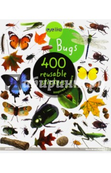 Bugs. Sticker book. 400 reusable stickersЛитература на иностранном языке для детей<br>Over 400 irresistible, reusable, and collectible stickers to mix, match, and trade!<br>Whether on windows, notebooks, these peel-and-place stickers are perfect for creating your own work of art-anytime, anywhere!<br>