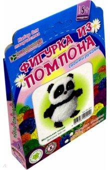 Набор для детского творчества. Изготовление фигурки Маленькая панда (пряжа+бисер) (АА 09-201)Изготовление мягкой игрушки<br>Панда (бамбуковый медведь) - милое животное и всеобщий любимец. Облик панды напоминает плюшевого мишку, а чёрно-белая окраска ещё больше делает его похожим на игрушку. С помощью набора Маленькая панда рукодельница старше 8 лет сможет скрутить из пряжи два пушистых черно-белых помпона и сплести бисерные лапки, используя шаблоны и фото на упаковке, с которой сможет поиграть или носить с собой как брелок для ключей, на телефон или сумку.<br>Упаковка: картонный пенал с европодвесом<br>Размер готового изделия: 50х60 мм<br>Комплектация: цветная гипоаллергенная пряжа, чёрный бисер, проволока, картонный шаблон, пошаговая инструкция.<br>Возраст: для детей старше 8 лет.<br>