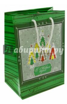 """Пакет А5 """"Зеленый с елками"""" (УП5-1006) Кубаньпечать"""