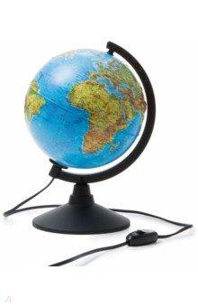 Глобус Земли физико-политический рельефный, d-210 мм, подсветка (К022100091) Globen