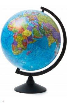 Глобус Земли политический (d-320 мм) (К013200016)Глобусы<br>Глобус Земли политический.<br>Диаметр 320 мм.<br>Материал: пластик.<br>Упаковка: картонная коробка.<br>Крым в составе РФ.<br>Сделано в России.<br>