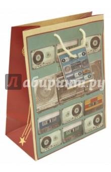 """Пакет бумажный 17,8*22,9*9,8 """"Магнитофон"""" (39642) Феникс-Презент"""