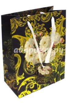 """Пакет бумажный """"Розы"""" (17,8х22,9х9,8 см) (40870) Феникс-Презент"""