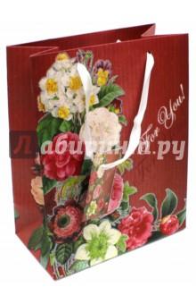 """Пакет бумажный """"Цветочная гирлянда"""" (17,8х22,9х9,8 см) (40871) Феникс-Презент"""