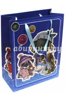 "Пакет бумажный ""Ретро-игрушки"" (26х32,4х12,7 см) (40883) Феникс-Презент"