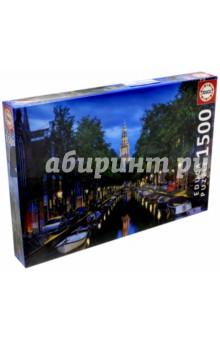 Пазл-1500 Сумерки на канале в Амстердаме (16767)Пазлы (1500 элементов)<br>Пазл-мозаика.<br>Состоит из 1500 элементов.<br>Правила игры: вскрыть упаковку и собрать игру по картинке.<br>Размер собранной картинки: 85х60 см.<br>Не давать детям до 3-х лет из-за наличия мелких деталей.<br>Упаковка: картонная коробка.<br>Производитель: Испания.<br>