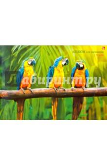 """Альбом для рисования, 20 листов """"Яркие попугаи"""" (А201287) Эксмо-Канц"""