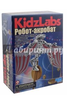 Робот-акробат (00-03364)Наборы для опытов<br>Удивите свою семью и друзей этим талантливым роботом-акробатом, который выполняет головокружительные трюки на тросе и тонком шесте!<br>Узнайте, как ему удается победить силу притяжения.<br>В комплекте: детали робота, капсулы для грузов, изогнутый брус, детали подставки, детали одноколесного велосипеда, трос и подробная инструкция.<br>Не включены в комплект, но также понадобятся: монетки, маленькая крестовая отвертка, 2 чистые пластиковые бутылки.<br>Для детей от 5-ти лет.<br>Не предназначено для детей младше 3-х лет из-за мелких деталей<br>Родительский контроль желателен.<br>Сделано в Китае.<br>
