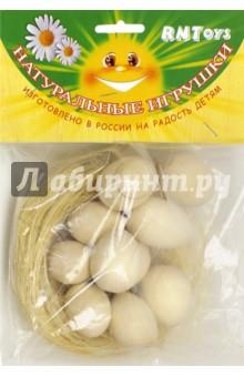 Гнездо с яйцами под роспись (10 штук) (Д-670)