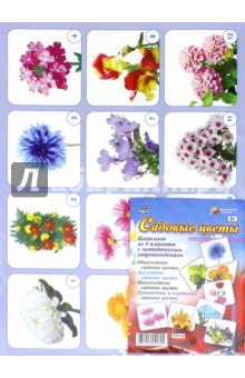 Комплект плакатов. Садовые цветы. 4 плаката. ФГОС ДО