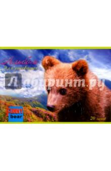 """Альбом для рисования """"Медвежонок"""" (20 листов) (С2241-01) АппликА"""