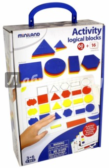 Набор для развития логики. Геометрические фигуры (95042) Miniland Educational