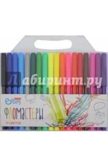 Фломастеры (18 цветов, в пластиковой упаковке) (BS-TV18) Boom
