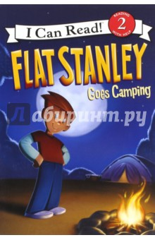 Flat Stanley Goes Camping (Level 2)Литература на иностранном языке для детей<br>Elementary-school kids love Jeff Browns classic character, Flat Stanley-the amazing paper-thin boy who can slide under doors, fly like a kite, and travel by mail.<br>In his latest fun-filled adventure, Flat Stanley Goes Camping, Stanley and the Lambchop family take a trip to the woods. It gets a little scary when Stanley and his brother, Arthur, run away from a skunk-and straight toward the edge of a cliff!<br>Flat Stanley Goes Camping is an I Can Read book designed to engage and excite child readers. It is a Level 2 book, which means it is perfect for kids who are starting to read on their own but still need some help.<br>