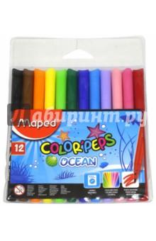 """Фломастеры """"Ocean"""" (12 цветов) (845720) MAPED"""