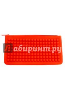 Пенал школьный Красный (20х10 см, силикон) (40234-25)Пенал школьный.<br>Без наполнения.<br>Размер: 200х100 мм.<br>Материал: силикон 100%.<br>Сделано в Китае.<br>