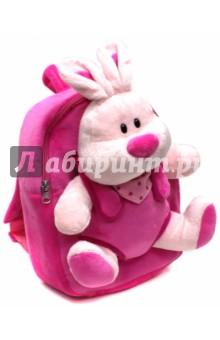 Рюкзак детский Плюшевый зайка (40092)Рюкзаки для малышей<br>Рюкзак детский.<br>Характеристики:<br>- 1 большое отделение на молнии.<br>- Ручку для переноски в руках.<br>Длина лямок регулируется.<br>Украшен игрушкой зайки.<br>Размер: 21x26x8,5 см.<br>Материал: 100% полиэстер.<br>Для детей 3-6 лет.<br>Производство: Китай.<br>