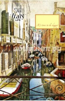 Блокнот Узкие улочки в Венеции, А5Блокноты большие Линейка<br>Удобные блокноты-тетради, с оригинальными акварельными обложками. Удобные линеечки и небольшие зарисовки внутри помогут вам сохранить все самые важные мысли и мечты на бумаге.<br>