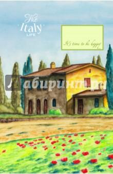 Блокнот Домик в Италии (А5)Блокноты большие Линейка<br>Удобные блокноты-тетради, с оригинальными акварельными обложками. Удобные линеечки и небольшие зарисовки внутри помогут вам сохранить все самые важные мысли и мечты на бумаге.<br>