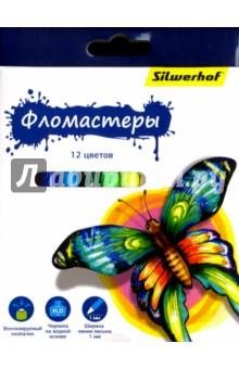 "Фломастеры ""Бабочки"" (12 цвета) (867200-12) Silwerhof"