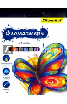 "Фломастеры ""Бабочки"" (24 цвета) (867200-24) Silwerhof"