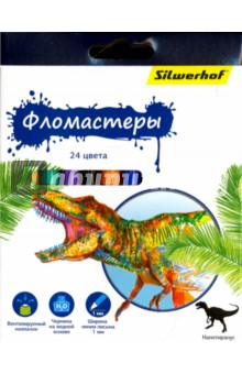 "Фломастеры ""Динозавры"" (24 цвета) (867201-24) Silwerhof"