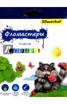 """Фломастеры """"Пластилиновая коллекция"""" (12 цветов) (867199-12) Silwerhof"""