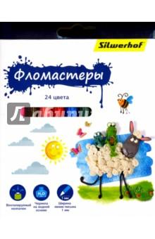 "Фломастеры ""Пластилиновая коллекция"" (24 цвета) (867199-24) Silwerhof"