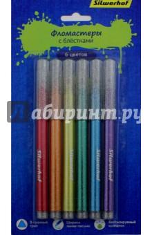 Фломастеры с блестками Серия 4, 6 цветов (867213-06)Фломастеры 6 цветов (1—8)<br>Набор фломастеров с блестками.<br>Товар предназначен для рисования по бумаге и картону.<br>В наборе 6 цветов.<br>Характеристики: <br>- корпус из полипропилена;<br>- перманентные чернила с блестками;<br>- яркие цвета;<br>- трехгранный грипп;<br>- вентилируемый колпачок.<br>Ширина линии письма: 3 мм. <br>Состав: полипропилен, фетр, перманентные чернила с блестками.<br>Сделано в Китае.<br>