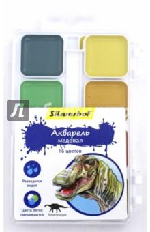 """Акварель медовая """"Динозавры"""" (16 цветов) (961125-16) Silwerhof"""
