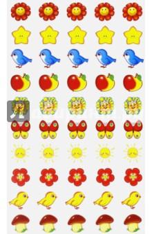 """Наклейки для поощрения """"Птички-яблочки"""" (НМ-7743) Сфера"""
