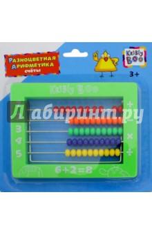 Счеты Разноцветная арифметика (62763)Веера, счетные палочки<br>Игрушка развивающая. Счеты.<br>Изготовлено из пластмассы, с элементами металла.<br>Содержит мелкие детали. Не рекомендовано детям младше 3-х лет.<br>Сделано в Китае.<br>