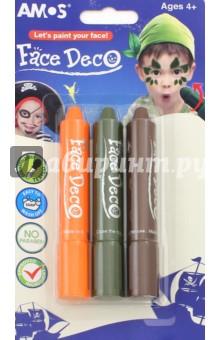 Мелки для декоративного грима Робин-Гуд , 3 цвета (22831)