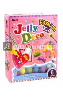 Набор красок Джелли. Модное зеркало (6 цветов) (22913)Другие виды красок<br>Набор красок для детского творчества.<br>В наборе 6 красок Джелли по 10,5 мл., 2 виниловых листа, оформительский клей, зеркальце, иллюстрированный мастер-класс с трафаретом.<br>Набор идеально подходит для создания детской бижутерии колец.<br>Фигурки можно приклеивать и отклеивать неограниченное количество раз.<br>На поверхностях не остается следов после отклеивания.<br>Для детей от 4-х лет. <br>Сделано в Корее.<br>