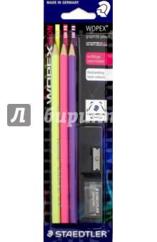 Набор чернографитных карандашей Staedtler HB (180FSBK3-1)